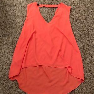 Red/orange swing back blouse